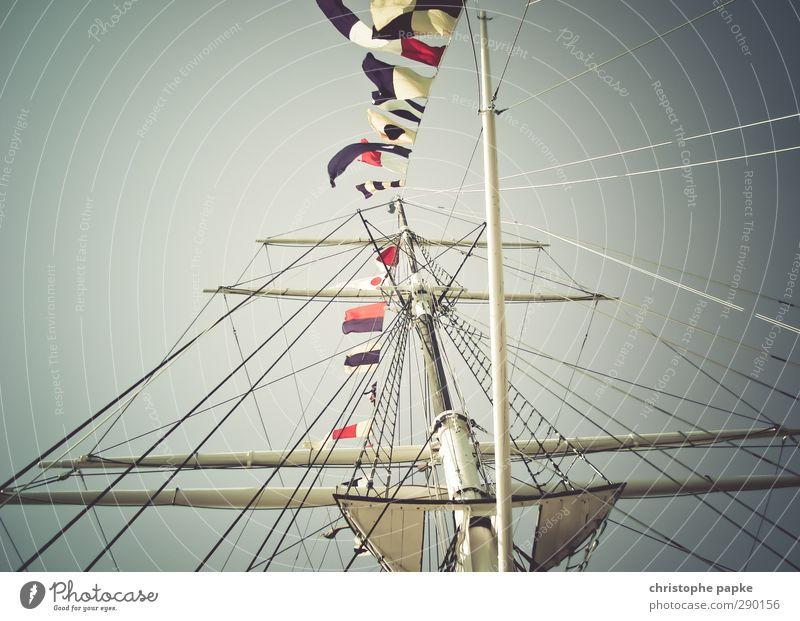Tall Retro Flag Sailing Navigation Steel Flagpole Mast Yacht Cruise International Sailing ship Boating trip Inland navigation Flying the flag