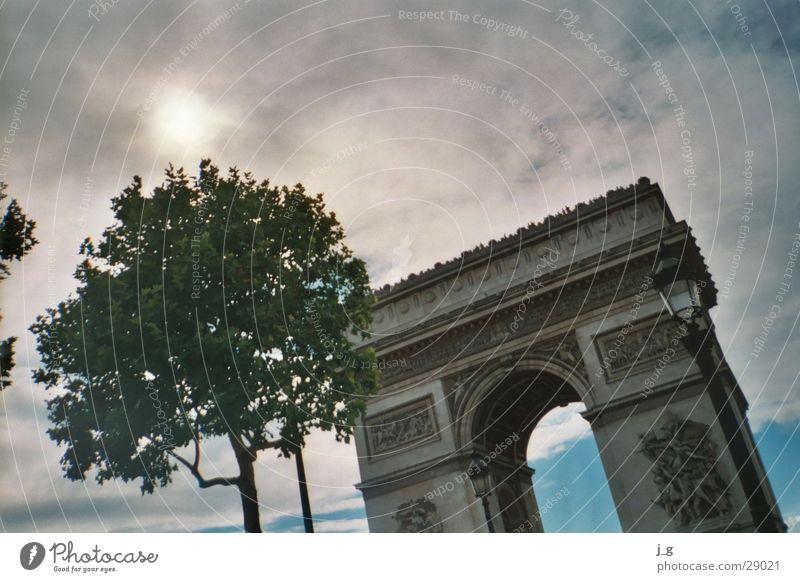 Arc de Triomphe France Paris Landmark Vacation & Travel Clouds Architecture triumphant Gate