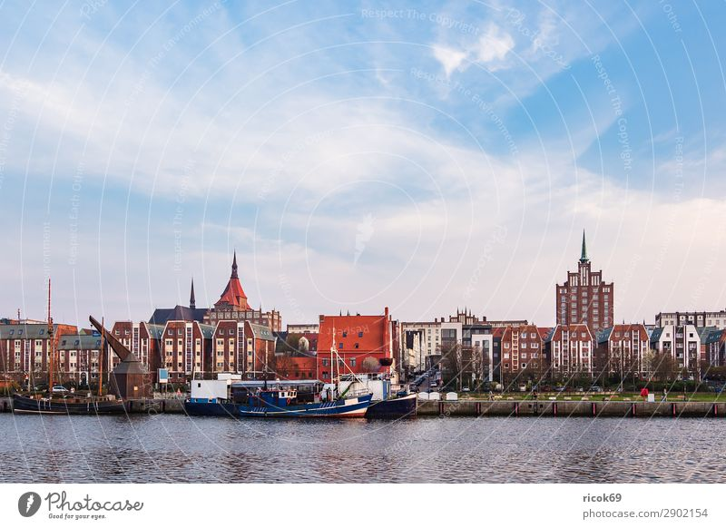 View of the city harbour in Rostock Vacation & Travel Tourism House (Residential Structure) Nature Water Climate Weather River Town Harbour Building