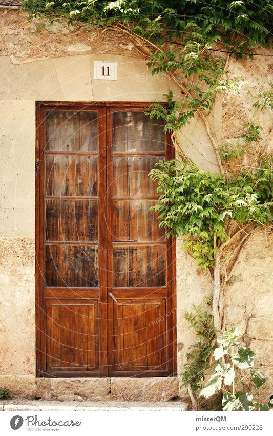 Side door Valldemossa. Art Esthetic Entrance Front door Spain Majorca Oversleep Village Door Wooden door Mediterranean Hidden Southern Nostalgia Historic