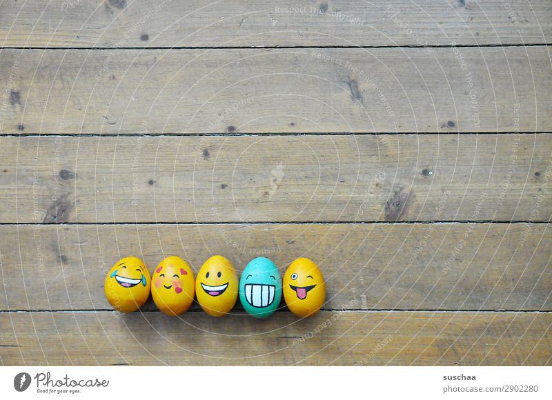 egg family IV Egg Easter egg Painted Art Tradition Feasts & Celebrations Smiley Laughter Joke Humor Funny Joy Face Clique Absurdity Wood Flower Spring