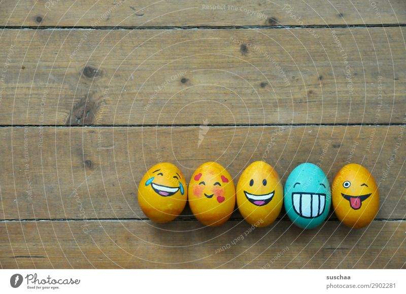 egg family II Egg Easter egg Painted Art Tradition Feasts & Celebrations Smiley Laughter Joke Humor Funny Joy Face Clique Absurdity Wood Flower Spring