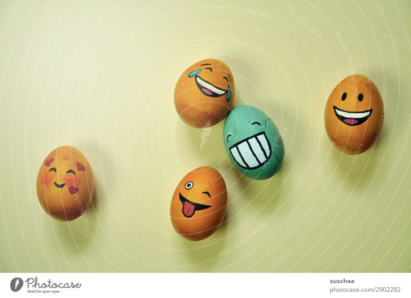 Face Funny Laughter Art Easter Tradition Humor Painted Egg Easter egg Joke Smiley Absurdity Clique