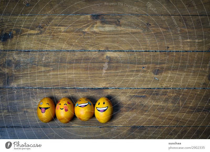 egg family III Egg Easter egg Painted Art Tradition Feasts & Celebrations Smiley Laughter Joke Humor Funny Joy Face Clique Absurdity Wood Flower Spring