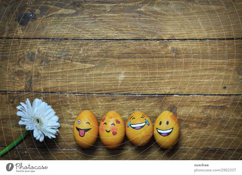 egg family Egg Easter egg Painted Art Tradition Feasts & Celebrations Smiley Laughter Joke Humor Funny Joy Face Clique Absurdity Wood Flower Spring