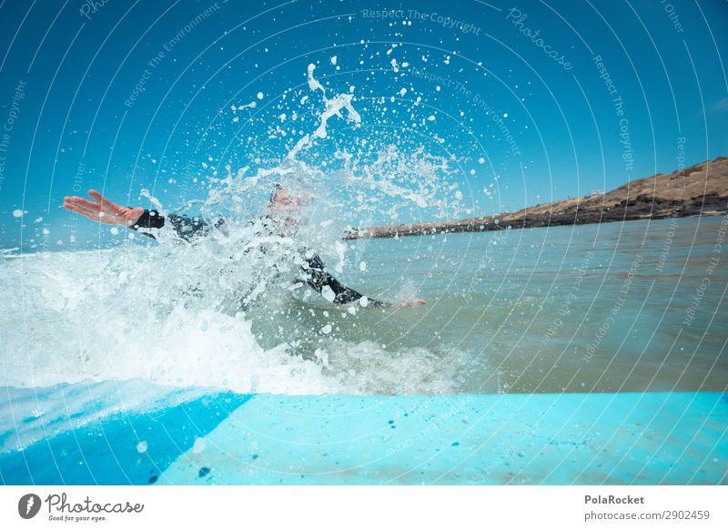 #AT# F*CK! Human being Masculine 1 Esthetic Splash of water Surfing Surfer Surfboard Surf school Ocean Colour photo Multicoloured Exterior shot Detail