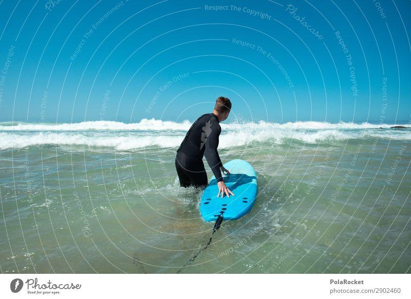 #AE# Going In Art Esthetic Surfing Surfer Surfboard Surf school Ocean Fuerteventura Blue Vacation mood Waves Neoprene Wetsuit Colour photo Multicoloured