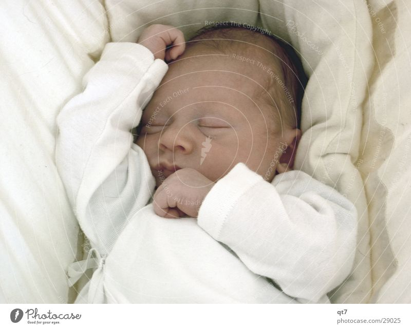 Child White Calm Baby Sleep Posture