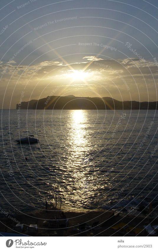Sun Ocean Coast Europe Majorca Witch Sunset
