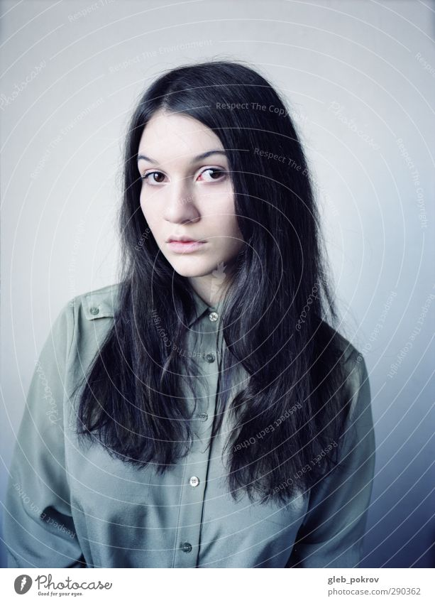 black portrait Human being Child Youth (Young adults) Beautiful Face Young woman Eyes Dark Feminine Hair and hairstyles Style Fashion Sit Elegant Mouth Nose