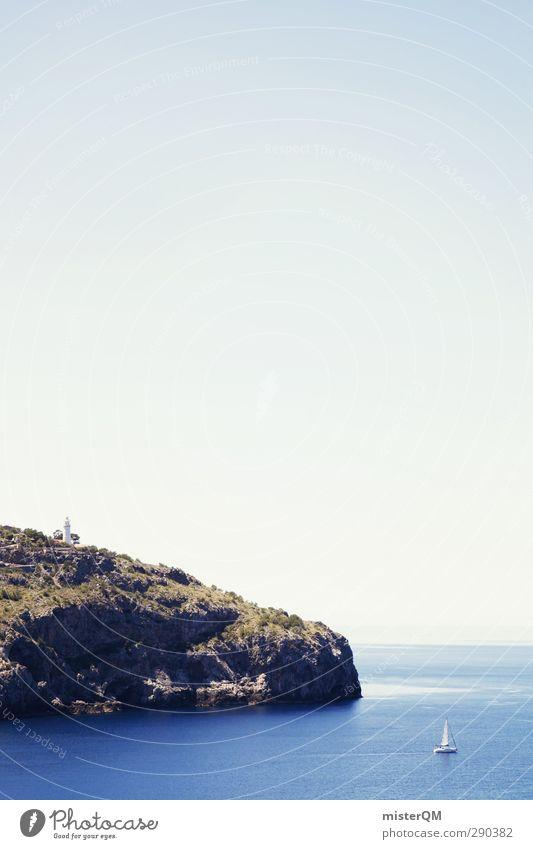 To The Cliffs. Art Esthetic Nature Majorca Spain Soller Harbour Coast Sailboat Idyll Mediterranean Heaven Paradise Peaceful Island Ocean Far-off places