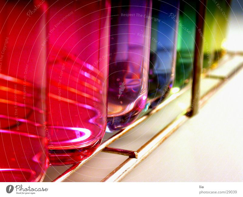 achwiebunt Test tube Experimental Science & Research Laboratory Prismatic colors Multicoloured Grating ph-values Chemistry Attempt Glass