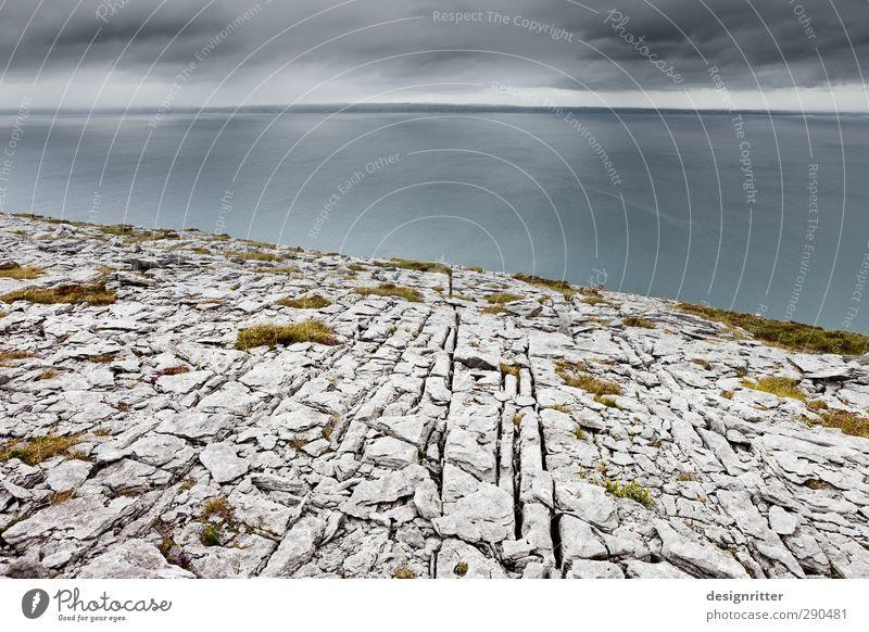 eye width Sky Clouds Weather Rock Mountain Coast Ocean Atlantic Ocean Horizon Cliff Burren Ireland Stone Old Infinity Broken Beginning Bizarre Loneliness