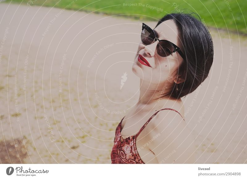 hipster girl in the park V, europe Lifestyle Style Beautiful Summer Garden Human being Feminine Young woman Youth (Young adults) Woman Adults 1 18 - 30 years