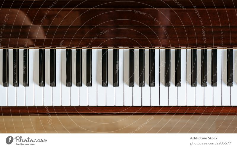 Top view of piano keyboard Piano Keyboard Music pianoforte Detail instrument Bird's-eye view Classic Horizontal Pianist Close-up Practice Lessons Playing