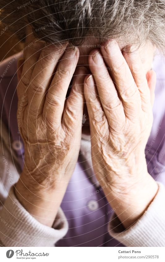 Human being Woman Old Hand Loneliness Life Senior citizen Feminine Sadness Gray Fear 60 years and older Touch Eternity Grief To hold on