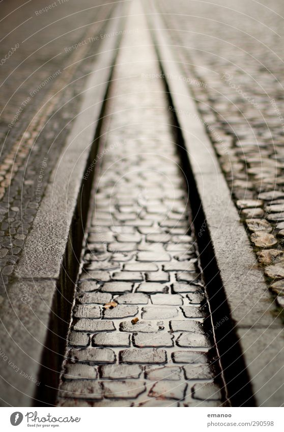 Water City Street Architecture Gray Stone Empty Long Landmark Downtown Paving stone Old town Curbside Drainage Sewer Narrow