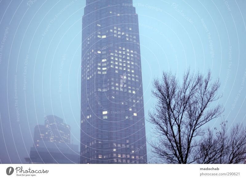 Sky City House (Residential Structure) Cold Architecture Building Business Fog Power High-rise Perspective Network Manmade structures Skyline Bank building