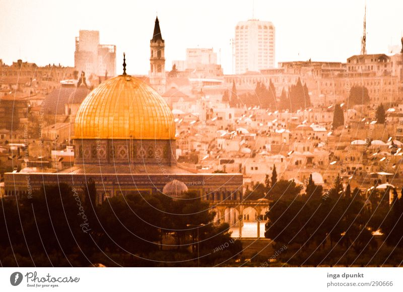 Jerusalem West Jerusalem Israel Near and Middle East Capital city Old town Dome of the rock Culture Politics and state Vacation & Travel Tourism