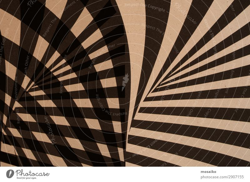 graphic stripes on paper - black and beige Style Design Art Work of art Esthetic Hip & trendy Retro Brown Black Flexible Life Contentment Uniqueness Idea