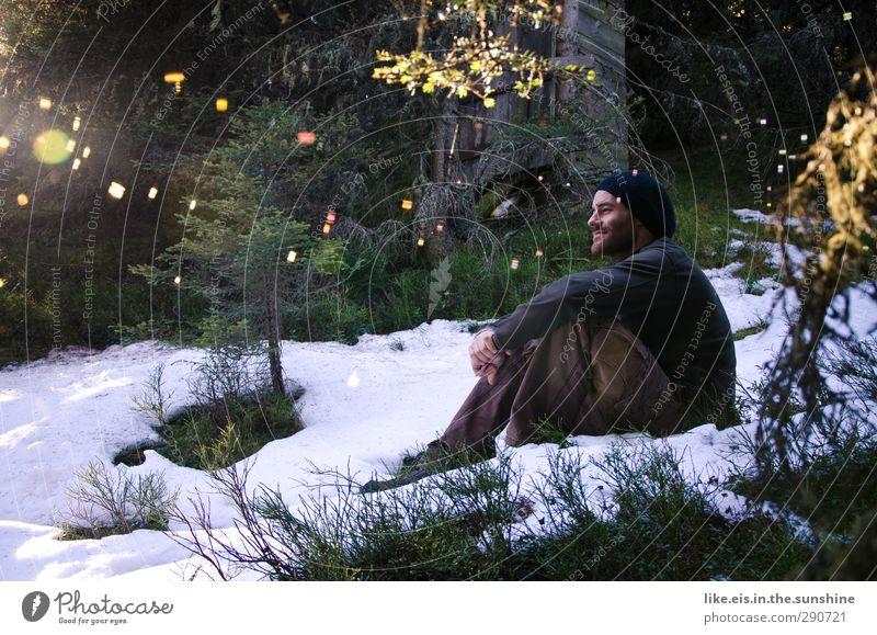 The other day in the Narnia closet. Harmonious Well-being Contentment Senses Relaxation Calm Trip Winter Snow Winter vacation Masculine Young man