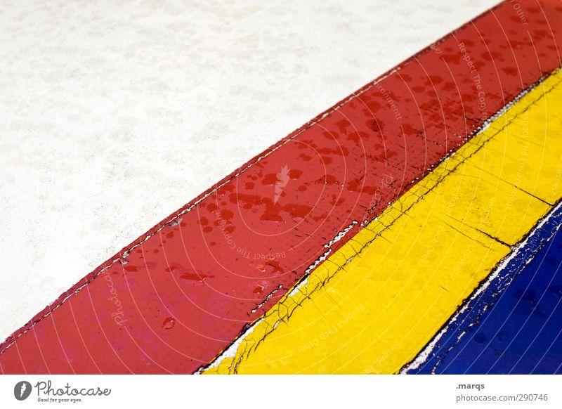 RGB Elegant Style Design Plastic Line Stripe Simple Wet Blue Yellow Red White Illustration Background picture Colour photo Multicoloured Exterior shot Detail