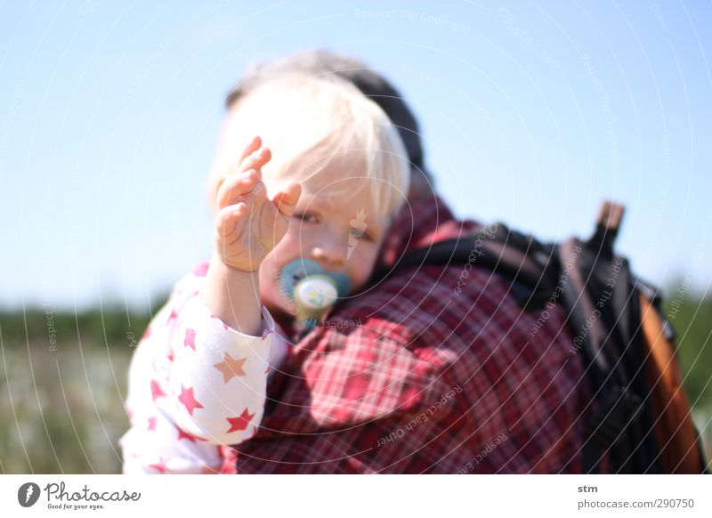 Human being Child Vacation & Travel Hand Summer Sun Life Senior citizen Emotions Happy Family & Relations Friendship Together Infancy Blonde Arm