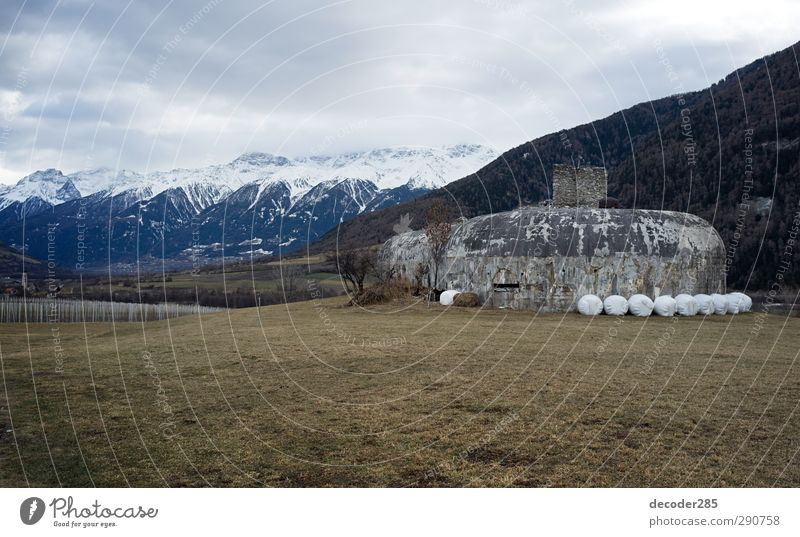 Nature Landscape Mountain Wall (building) Snow Autumn Wall (barrier) Building Air Rock Facade Fear Authentic Dangerous Safety Alps