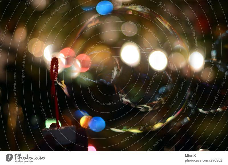 bubbles Air Multicoloured Soap bubble Bubble Blow Point Blur Lighting Colour photo Close-up Pattern Deserted Artificial light