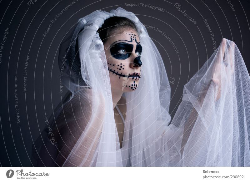 Mosquitoes can't give me anything. Body Hair and hairstyles Skin Face Cosmetics Make-up Feasts & Celebrations Carnival Hallowe'en Wedding Human being Feminine