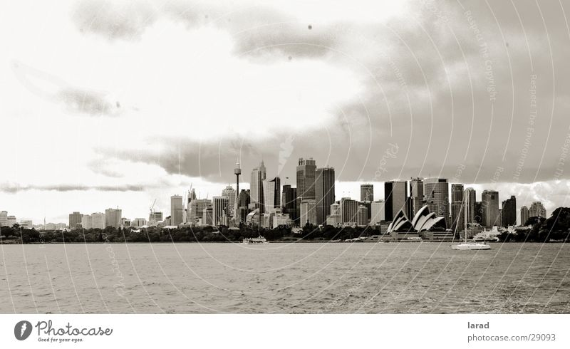 Sydney-dark clouds Town Australia Clouds Moody style Landscape Black & white photo