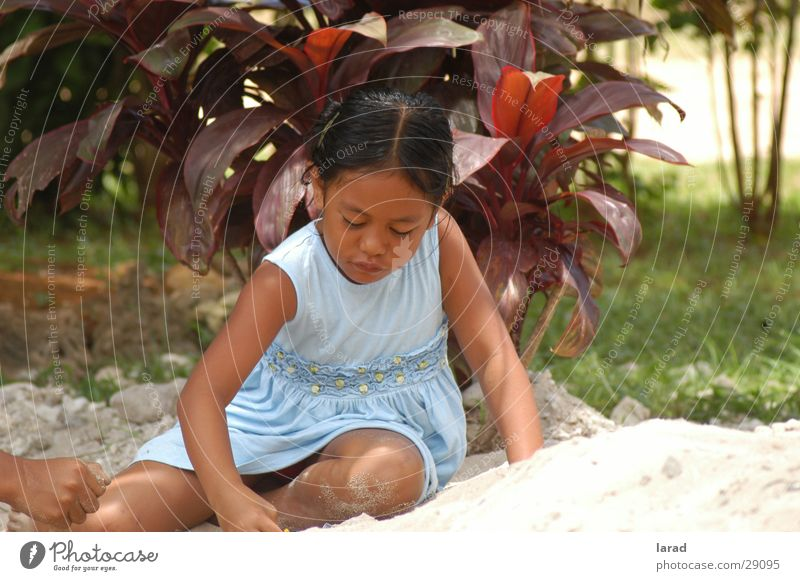 sand games Child Girl Summer Playing