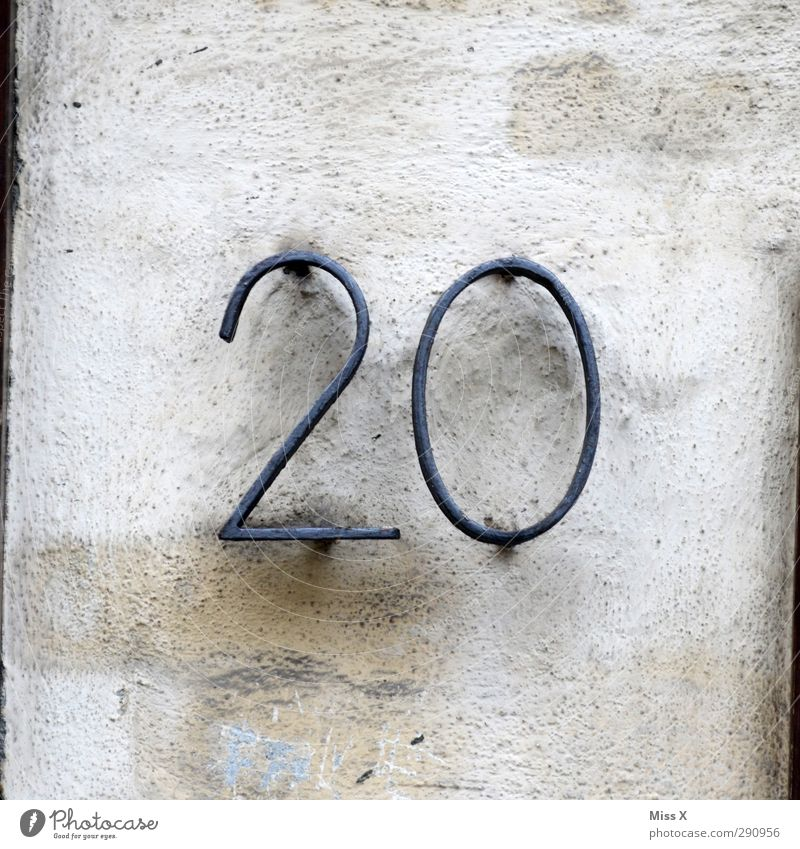 20 Sign Characters Cheap Good Hideous Hot Bright House number Colour photo