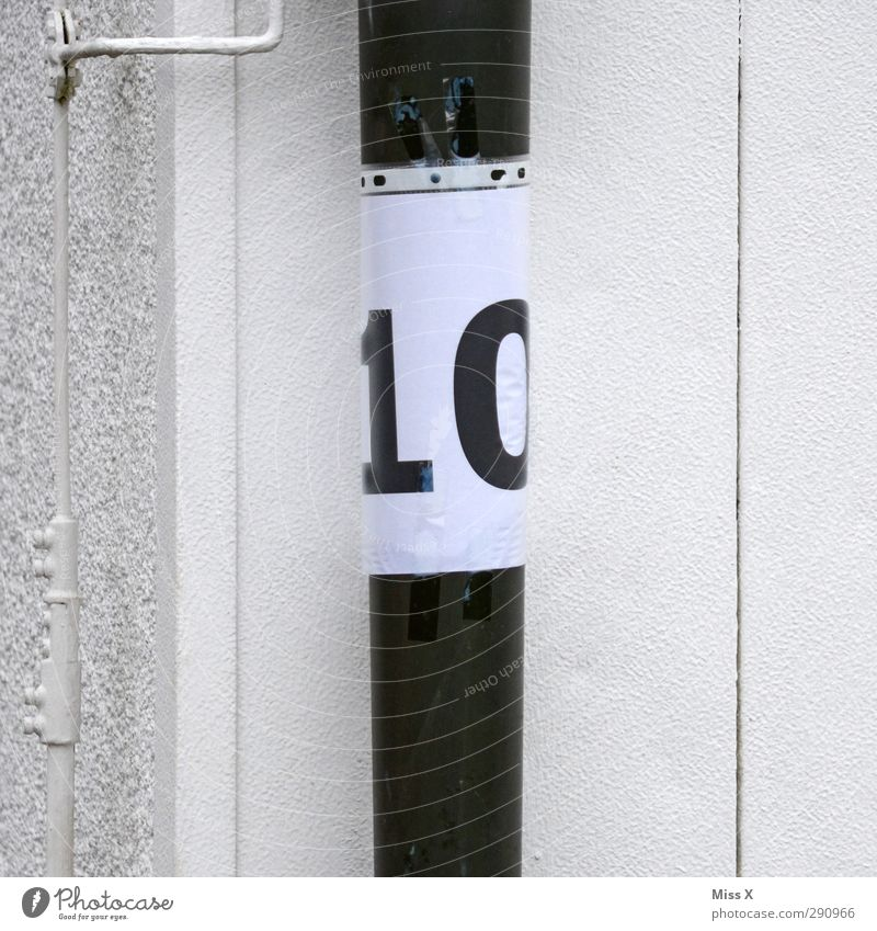 10 Sign Characters Signs and labeling White Problem solving transparent cover Packing film Conduit House number Wall (building) House (Residential Structure)