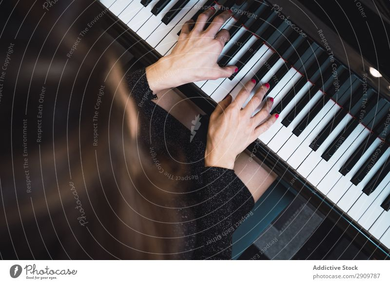 Overhead view of pianist playing piano at home Fiddle Playing Music Violinist Orchestra instrument Classical Musician Hand Musical Human being String