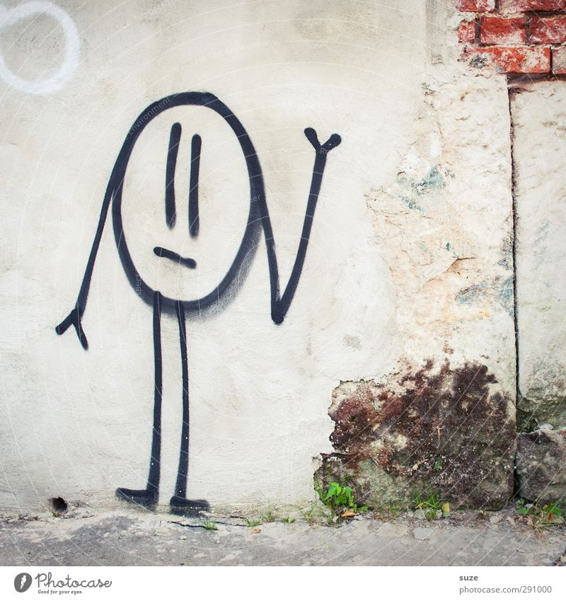 Old White Loneliness Graffiti Wall (building) Sadness Wall (barrier) Funny Gray Background picture Facade Dirty Gloomy Cute Broken Brick