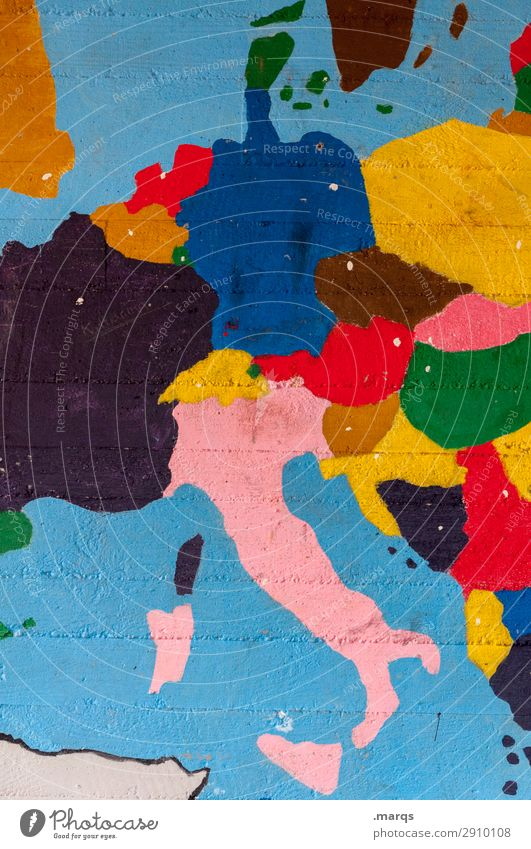 Central Europe Education Wall (barrier) Wall (building) Map Multicoloured Politics and state Geography Physical maps Germany Italy France Netherlands