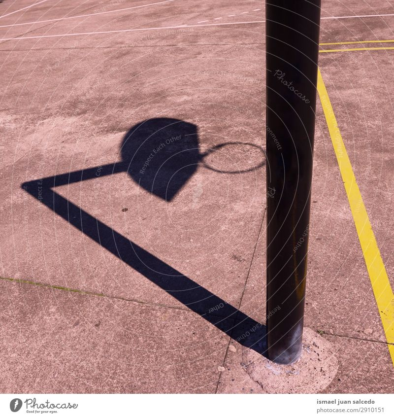 basketball sport shadow silhouette on the ground Basketball Shadow Silhouette Sunlight Ground Field Story Sports Playing Abandon Street Park Playground