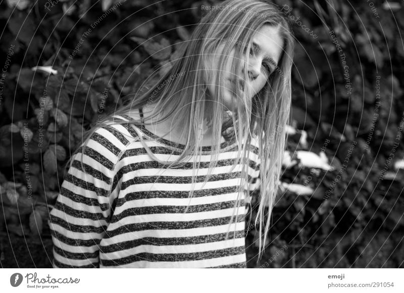 rock'n'roll Young woman Youth (Young adults) 1 Human being 18 - 30 years Adults Blonde Long-haired Hip & trendy Uniqueness Black & white photo Exterior shot Day