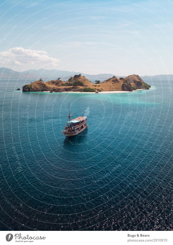 pirate ship Cloudless sky Summer Coral reef Ocean Island To enjoy Dream Adventure Leisure and hobbies Vacation & Travel Logistics Lanes & trails Watercraft