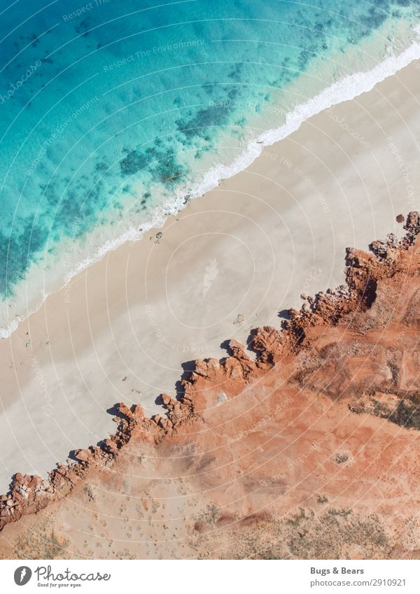 Nature Landscape Red Ocean Travel photography Beach Coast Sand Waves Earth Esthetic Island Adventure Elements Bay Turquoise