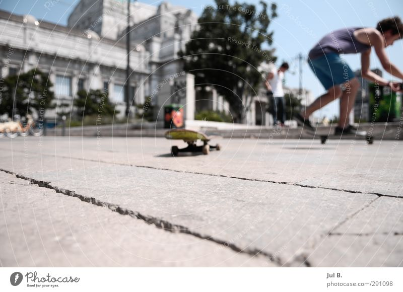 Milano Skate Leisure and hobbies Town Observe Make Athletic Moody Skateboard fun Colour photo Exterior shot Day Blur