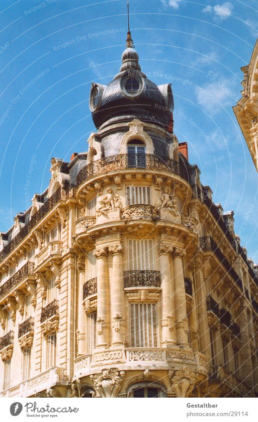 Old House (Residential Structure) Architecture Corner Tower France Languedoc-Roussillon Formulated Ornate Montpellier