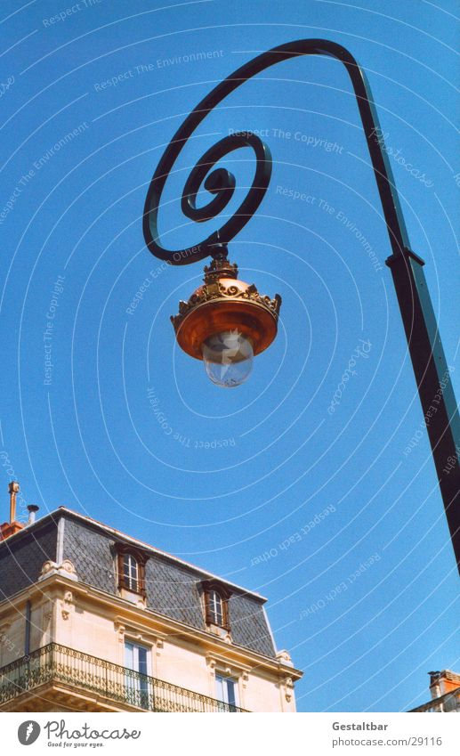 Old House (Residential Structure) Street Lamp Lighting Lantern Historic Snail Spiral Formulated Brass