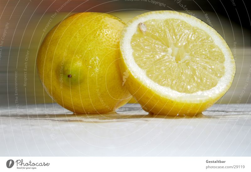 Juicy Lemon Yellow Round Half Vitamin C Healthy Sliced Fresh Juice Formulated Fruit Anger Part