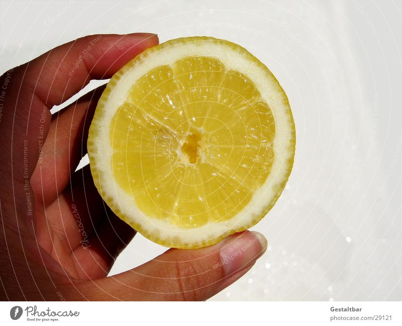 Hand Yellow Healthy Funny Fruit Anger Vitamin Half Lemon Formulated Sliced Vitamin C