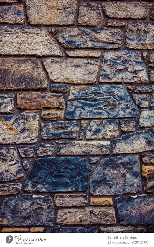 old stone wall at a house in Edinburgh Old Great Britain Background picture Pattern Scotland Stone Structures and shapes Wall (building) Brick Exterior shot