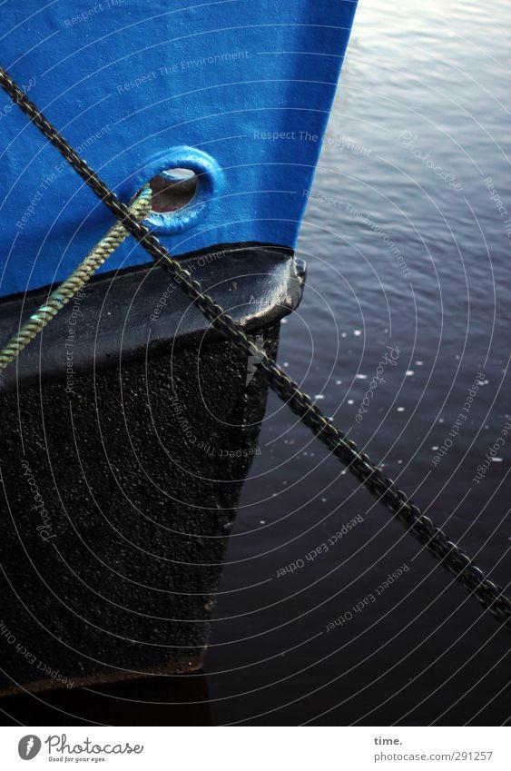 bridles Water Navigation Inland navigation Rope Spar varnish Ship's side Sharp-edged Fluid Large Historic Cold Dry Blue Black Serene Calm Judicious Refrain