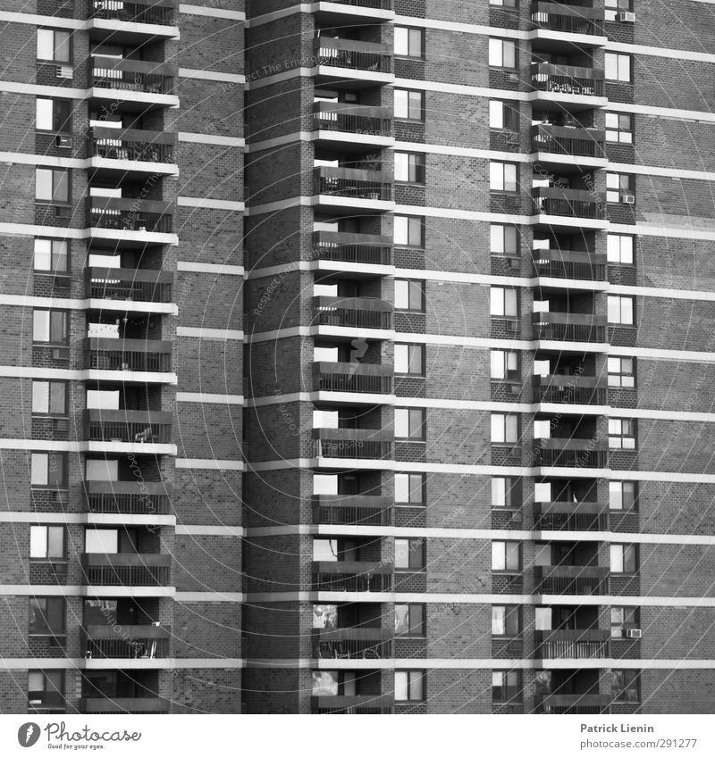 free yourself Town Manmade structures Building Architecture Facade Balcony Beginning Black & white photo Exterior shot Deserted Day Light Contrast