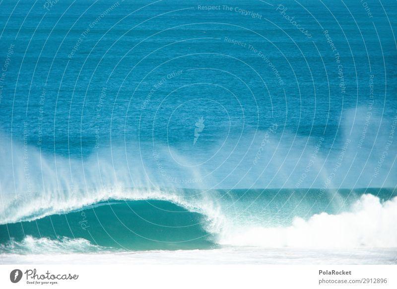#A# Kawumm! Art Esthetic Waves Swell Undulation Wave length Wavy line Wave action Wave break Ocean Water Surfing Surfer Surfboard Surf school Colour photo